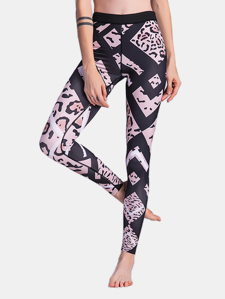 Pink Leopard High-waisted Leggings