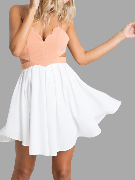 Plunging Neck Crisscross Back Cami Playsuit