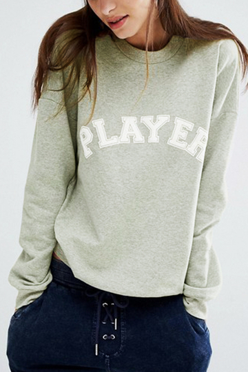 Grey Player Printed Casual Sweatshirts