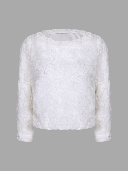Flower Pattern Shirt with Long Sleeves