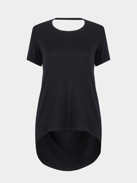 Back Cut Out High Low Hem T-shirt