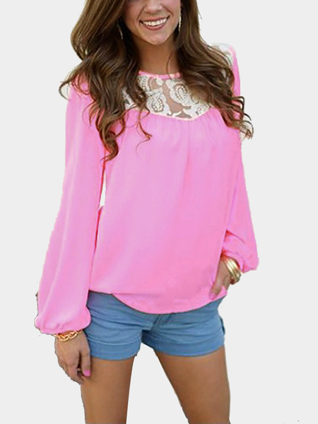Long Sleeves Top with Lace Details