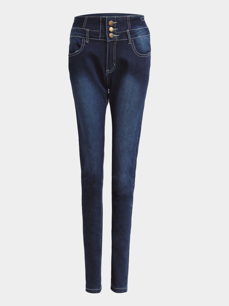 Blue High-waist Skinny Jeans