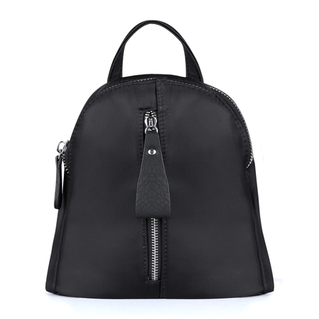 Black Mini Backpack with Front Zipper Pocket