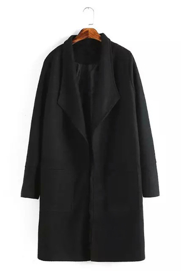 Manteau noir Long Duster