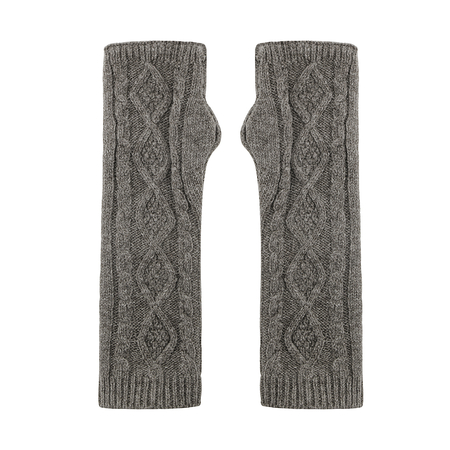 Longline Cable Knit Arm Warmer Gloves