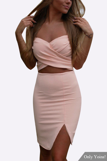 Sexy Sleeveless Splited Cami Mini Dress