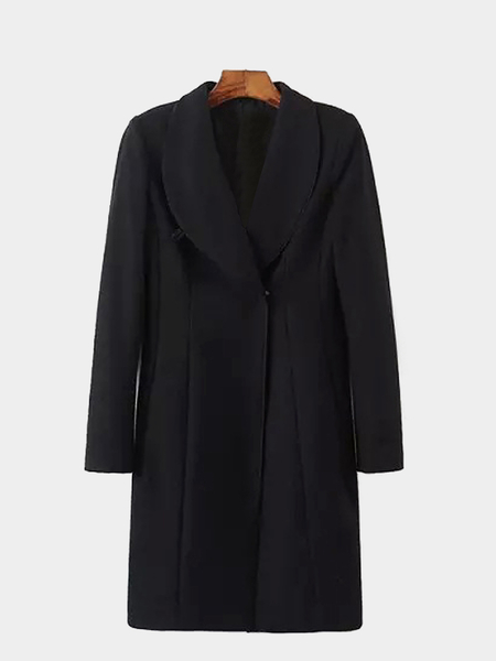 Longline Shawl Collar Duster Coat
