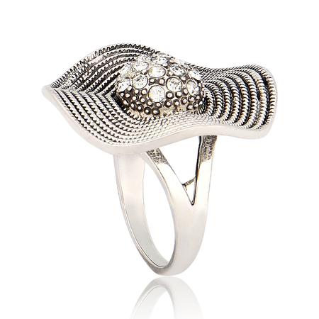 Hat Shape Crystal Ring