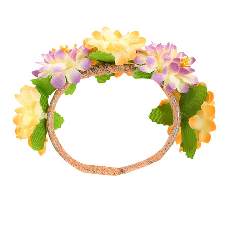 Open Type Double Colors Flower Bride Bracelets