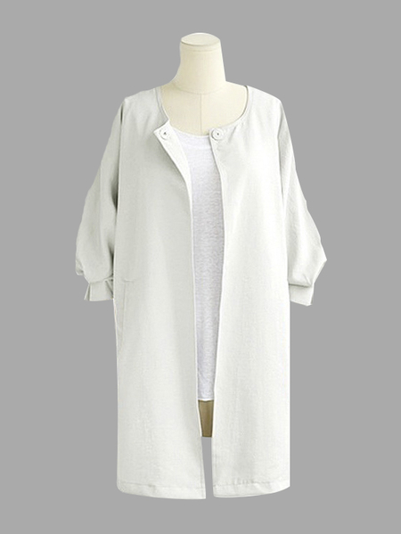 Long Line Coat in White