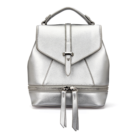 Sac à dos Leather-Look Mini All Silver