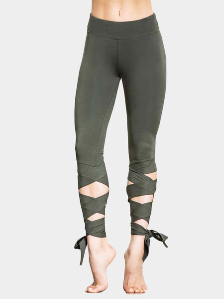 Leggings Yoga Bodycon de diseño de lazo