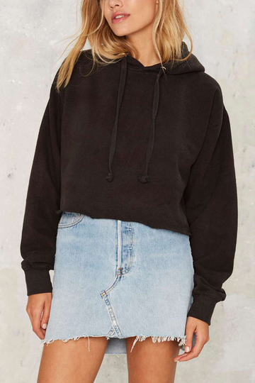 Classic Black Long Sleeves Hoodie