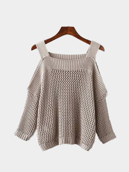 Buy Cold shoulder Long Sleeves Knitwear