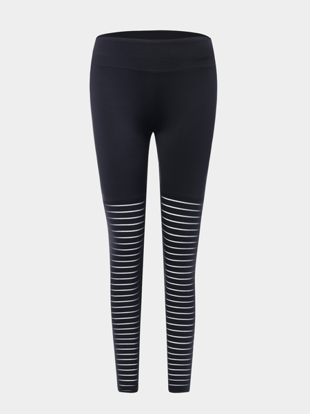 Black Hollow Design High Waisted Quick Drying Leggings