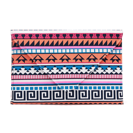 Geo Tribe Print Envelope Clutch Bag with Chain Strap