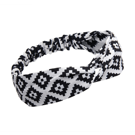 Twist Front Knotted Headband in Argyle