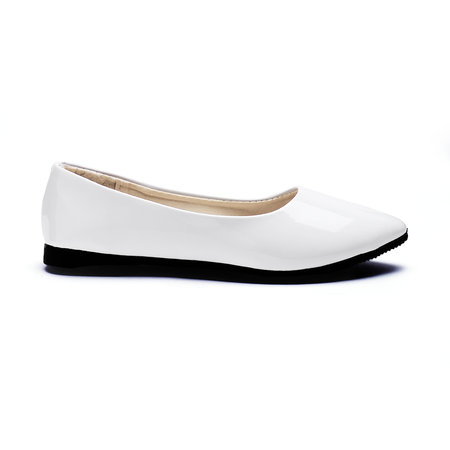 White Fashion Pointed Toe Flat Shoes