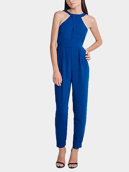Sleeveless Pleated Jumpsuit