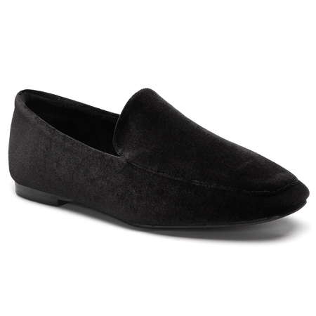 Black Fashion Velvet Flats