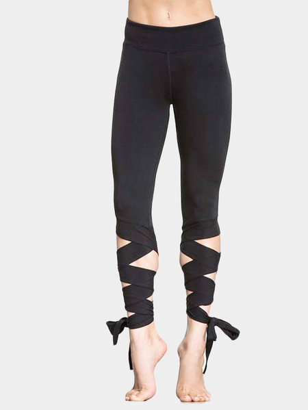 Negro Leggings Yoga Bodycon Yoga [#}]