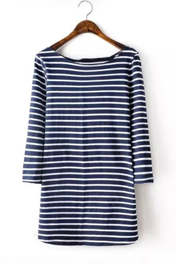 affordable trendy white shirt with blue stripes sales online ...