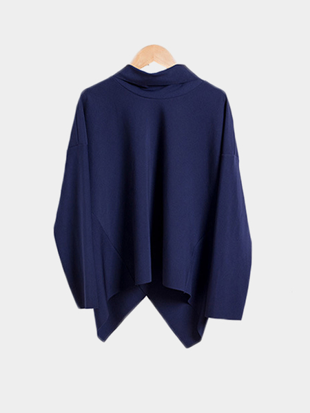 Asymmetrical Roll Neck Top