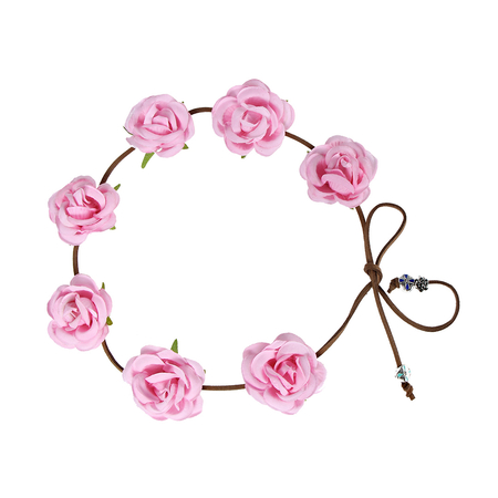 Pastoral Wreath Tying Headband in Rose