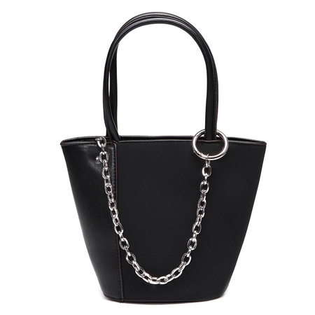 Black Bucket Shoulder Bag