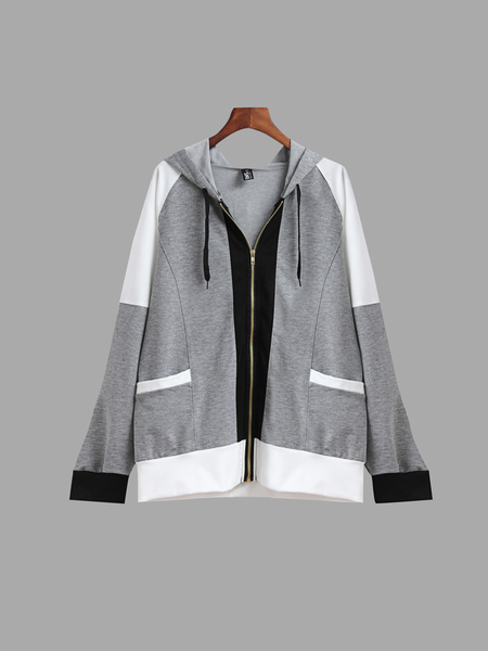 Zip Up Front Closure Adventure Hoodie with Two Pockets