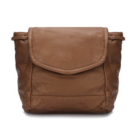 Brown Leather-Look Zaino
