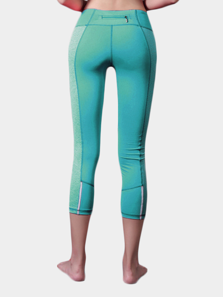 Green Sexy Mesh Design Bodycon Leggings
