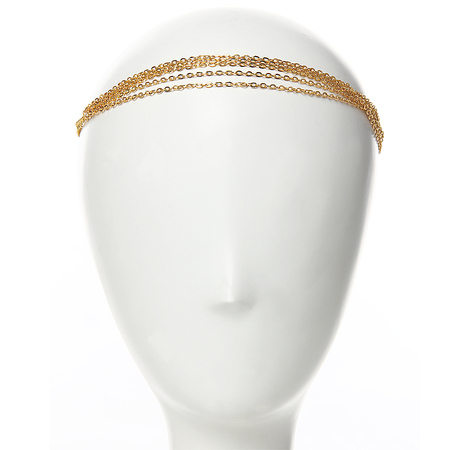 Golden Disc Chain Headband