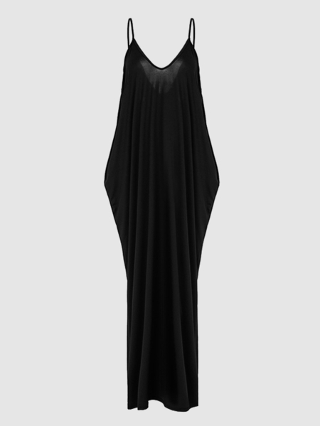 Sexy Backless Cami Maxi Dress in Black