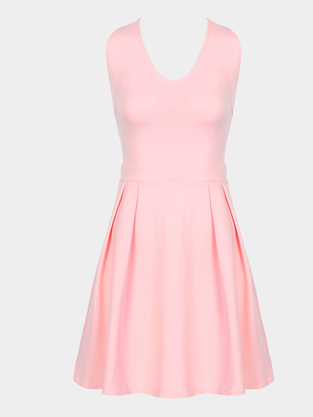 Sexy Chiffon Cami Mini Dress with Bow-knot Fastening