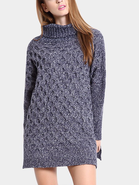 Purple Turtleneck Cable Jumper