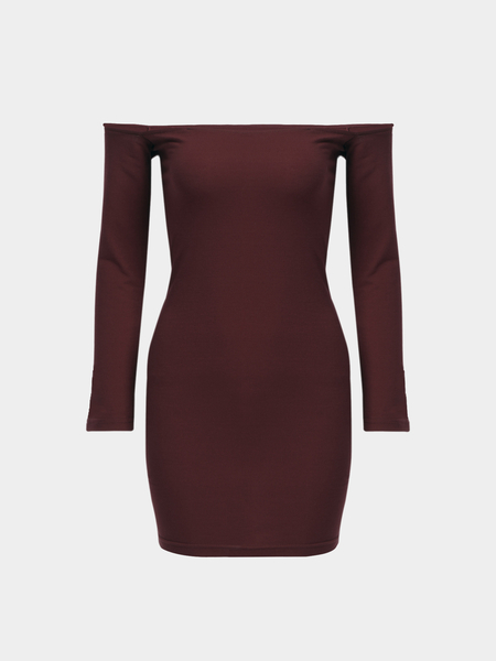 Bodycon Off Shoulder Long Sleeves Mini Dress