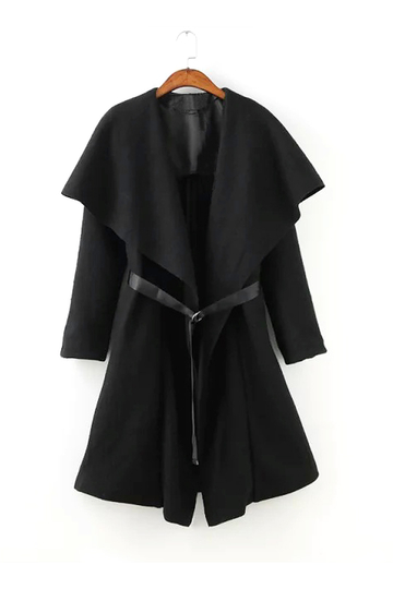 Draped Coat with Ribbons