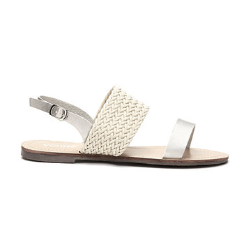 Casual Woven Leather Look Strap Buckle Flat Sandals