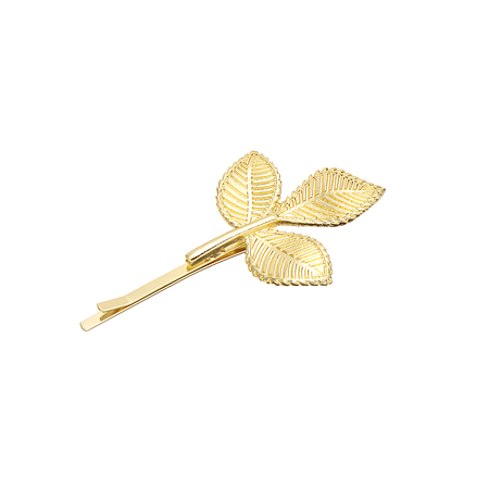 Leaf Hair Clip in Gold