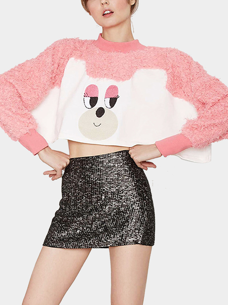 Couture rose Motif dessiné mignon Cropped Top