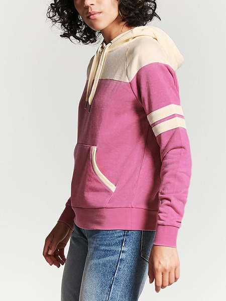 Hooded Design Pullover Long Sleeves Sweatshirt