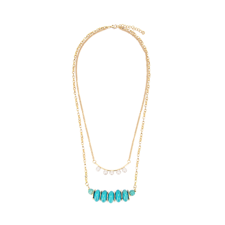 Pearl and Turquoise Layering Necklace