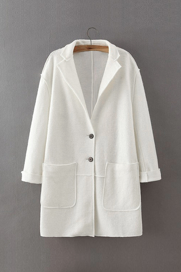 White Lapel Coat