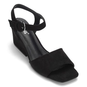 Black Simple Heeled Sandal