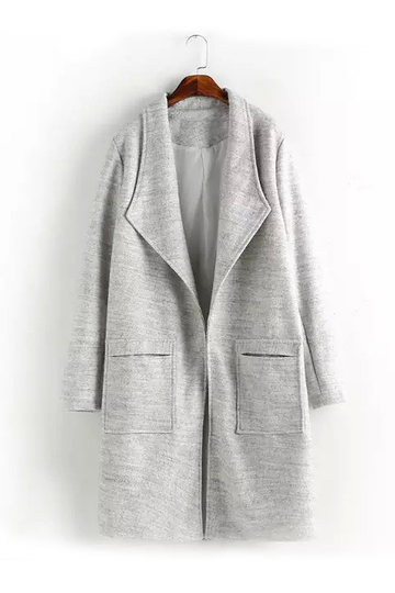 Grey Long Duster Coat