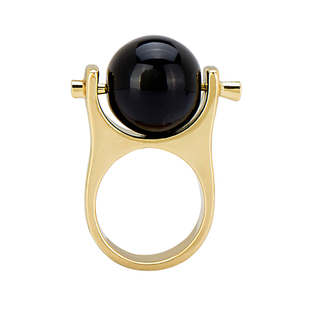 Ring with Black Ball