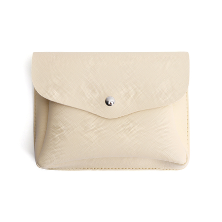 Apricot Soft Plain PU Crossbody Bag