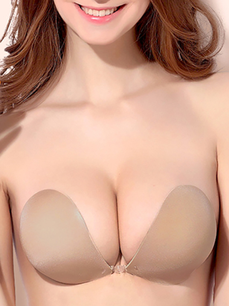 Sexy Nude Backless Strapless Ultimate Boost Bra With Breathable Fabric